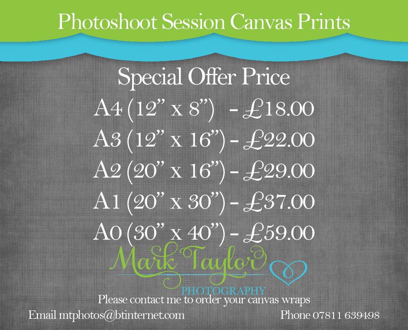 Photoshoot Session Canvas Prints, Weston Super Mare,